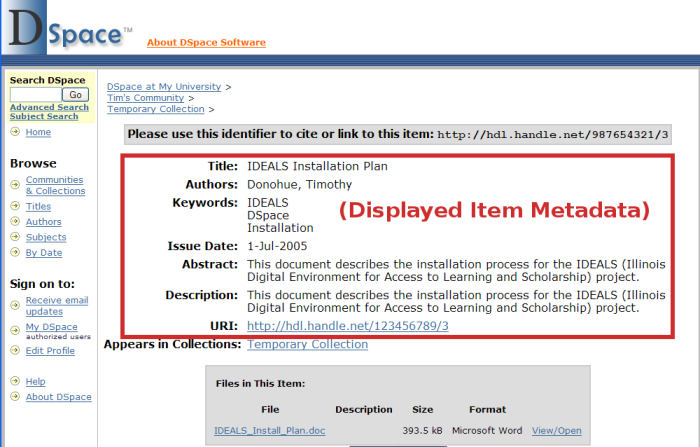 a86f5aab63c Change displayed item metadata (JSP) - DSpace - DuraSpace Wiki