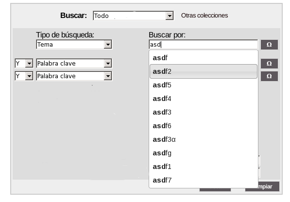 Autocomplete functionality on JSPUI advanced search form - DSpace