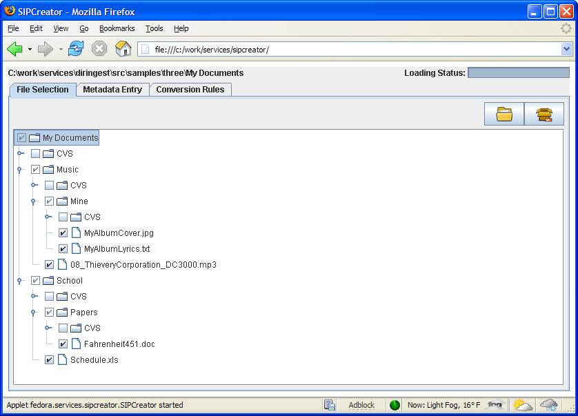 SIP Creator 1 1 - Fedora Framework Services - DuraSpace Wiki