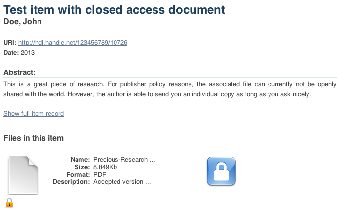 Request A Copy Dspace 5x Documentation Duraspace Wiki