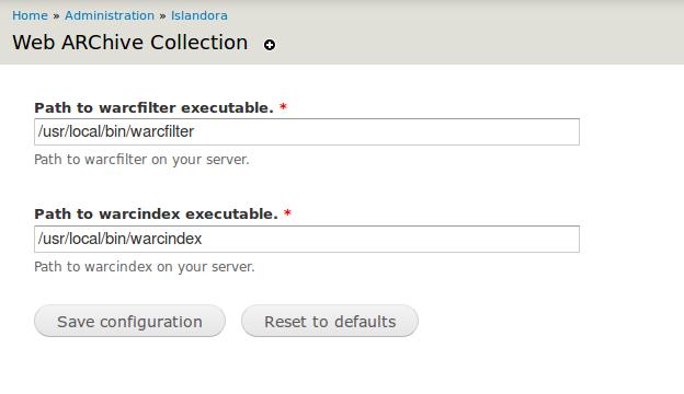 Web Archive Solution Pack - Islandora Documentation