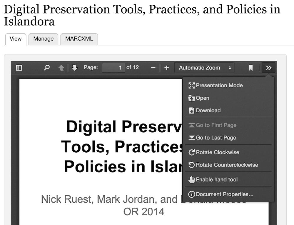 Islandora PDF js - Islandora Documentation - DuraSpace Wiki