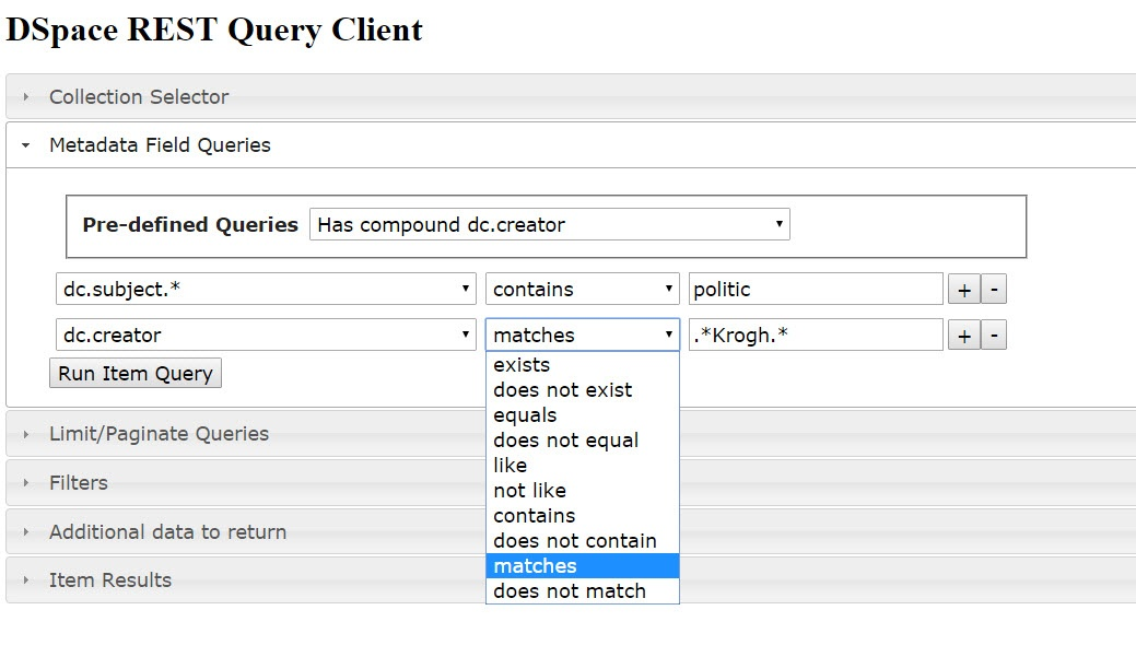 REST Reports - Metadata Query Screenshots with Annotated API