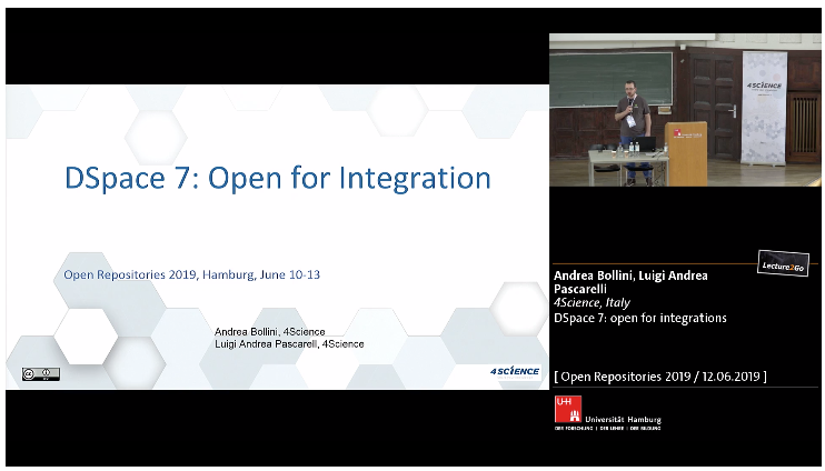 DSpace 7 Open for Integration - Video recording