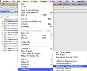 How do I configure Eclipse for Fedora with Maven? - Fedora 3 5